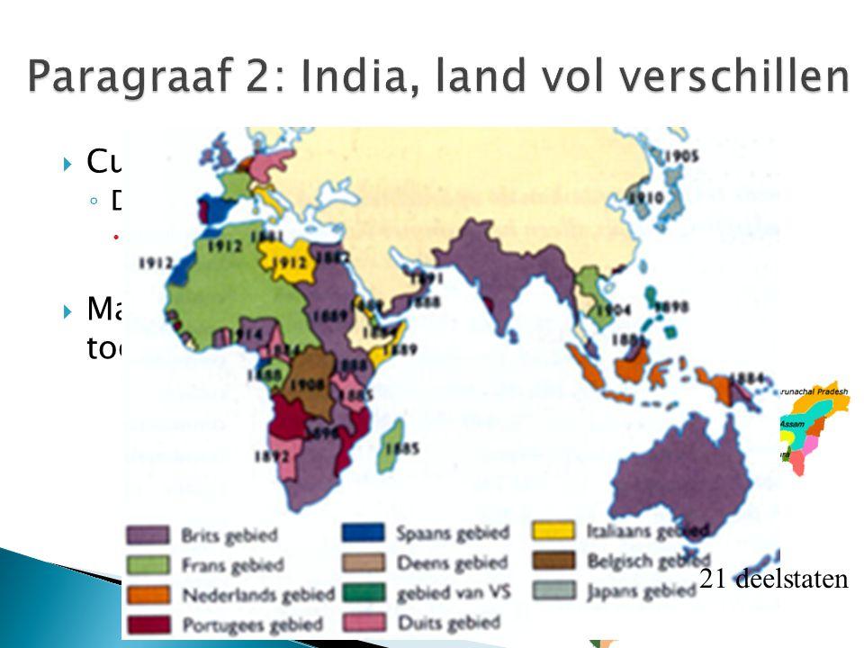 Paragraaf 2: India, land vol verschillen