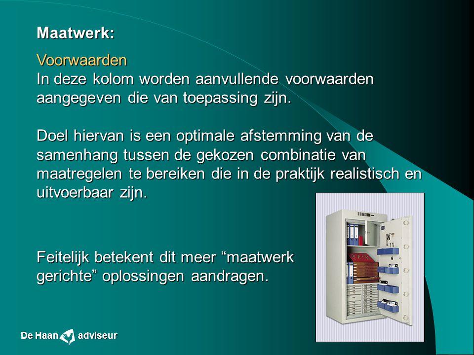 Feitelijk betekent dit meer maatwerk gerichte oplossingen aandragen.