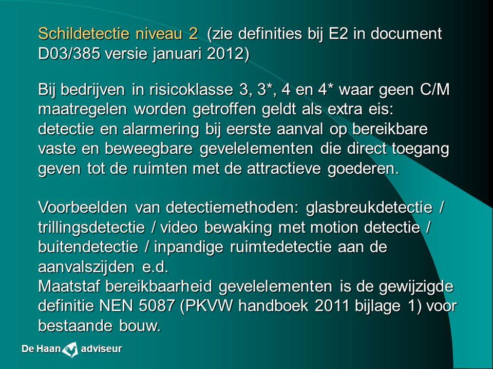 Schildetectie niveau 2 (zie definities bij E2 in document D03/385 versie januari 2012)
