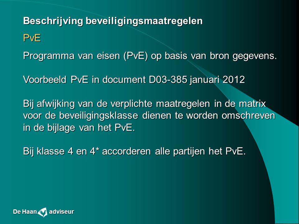Beschrijving beveiligingsmaatregelen PvE