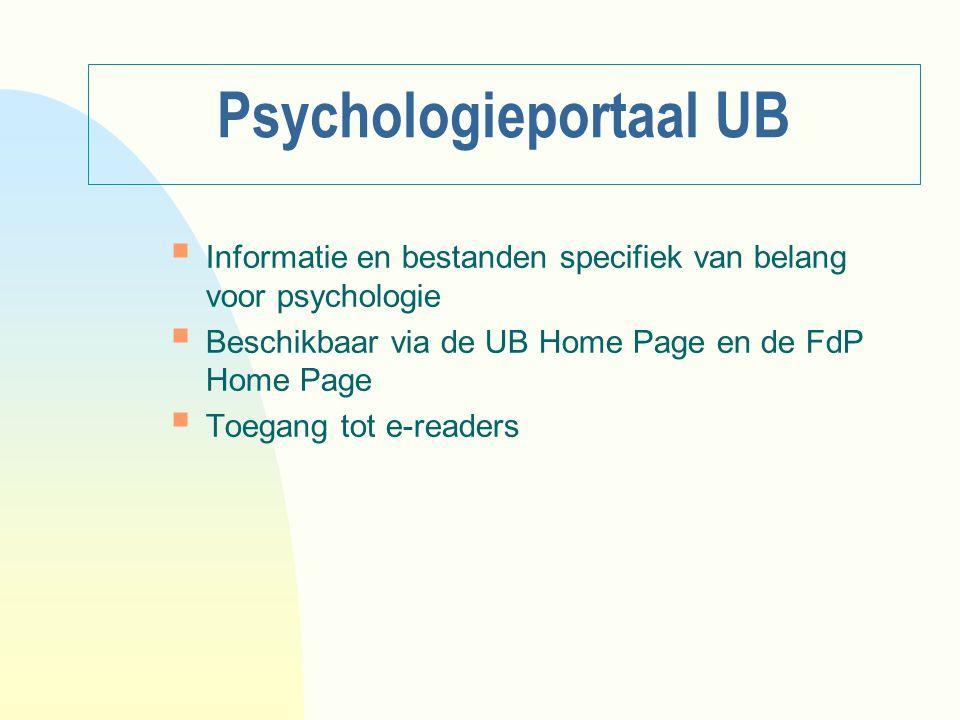 Psychologieportaal UB