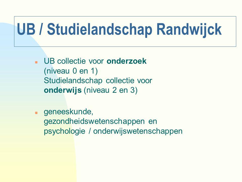 UB / Studielandschap Randwijck