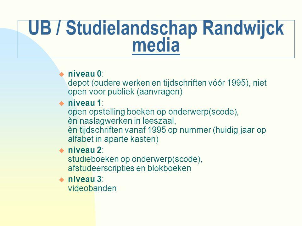 UB / Studielandschap Randwijck media