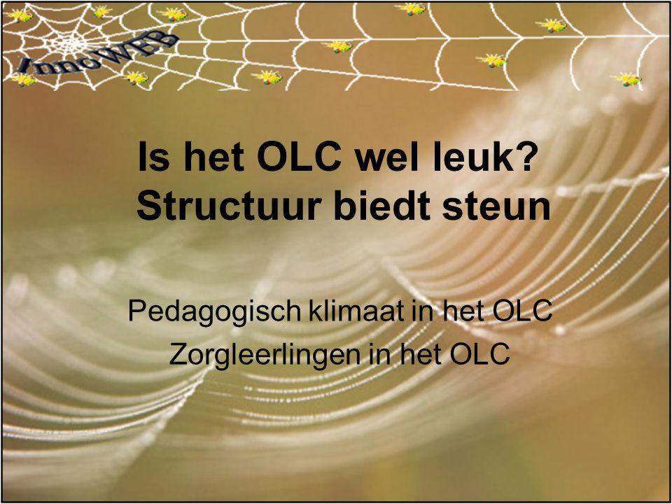 Is het OLC wel leuk Structuur biedt steun