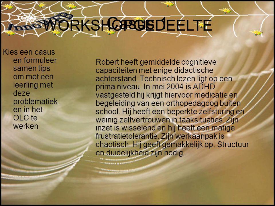 Casus 1 WORKSHOPGEDEELTE