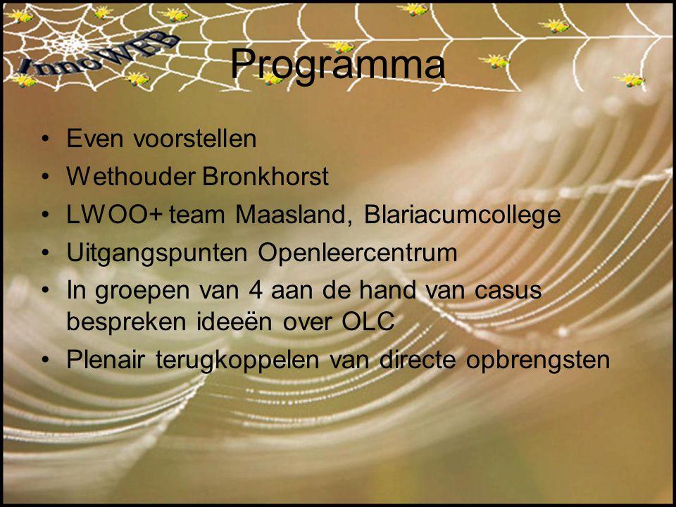 Programma Even voorstellen Wethouder Bronkhorst