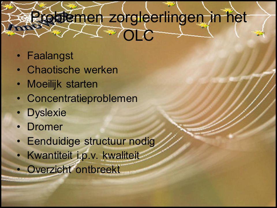 Problemen zorgleerlingen in het OLC
