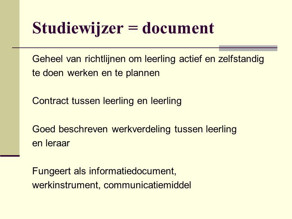 Studiewijzer = document