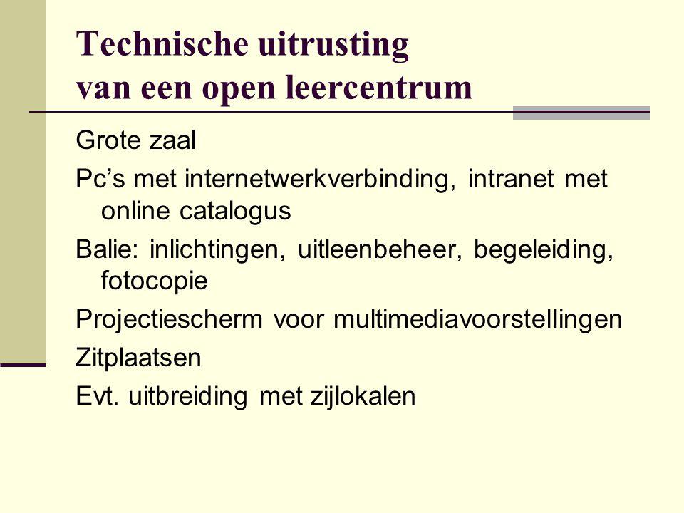Technische uitrusting van een open leercentrum