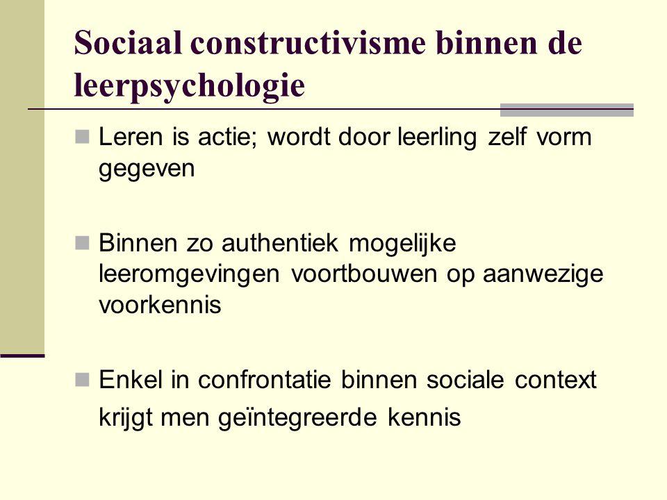 Sociaal constructivisme binnen de leerpsychologie