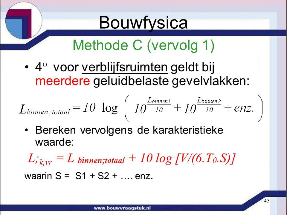 Bouwfysica Methode C (vervolg 1)