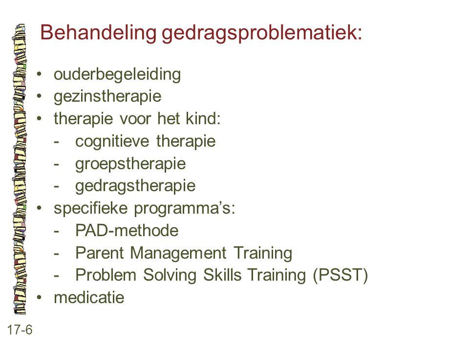 Behandeling gedragsproblematiek: