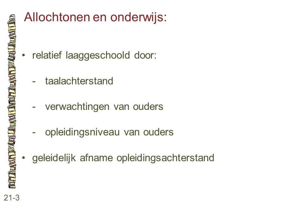 Allochtonen en onderwijs: