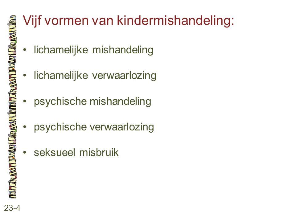 Vijf vormen van kindermishandeling: