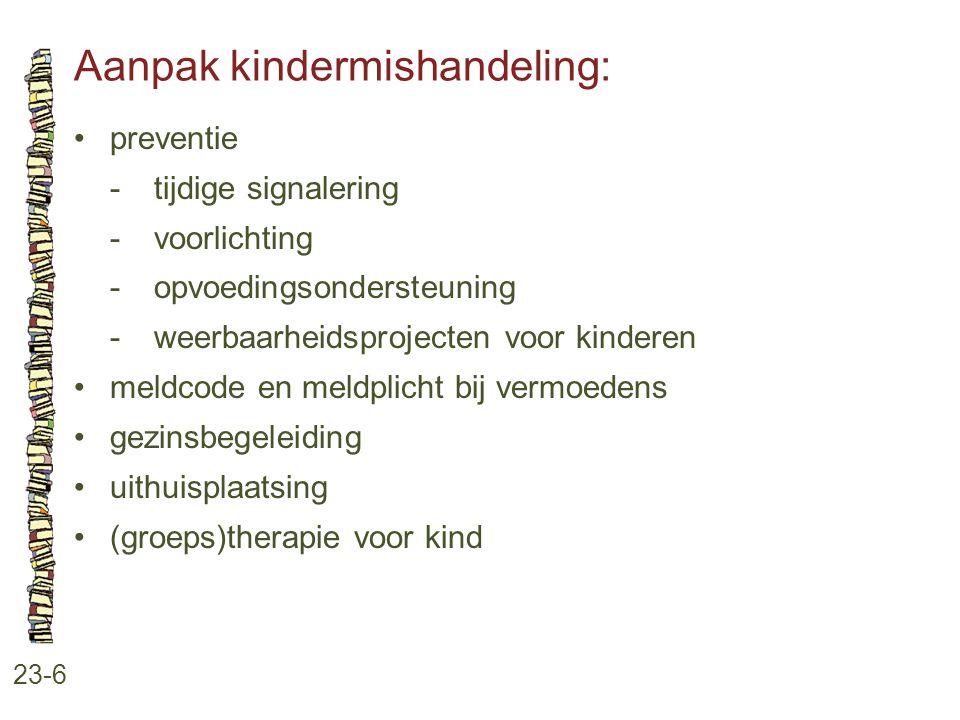 Aanpak kindermishandeling: