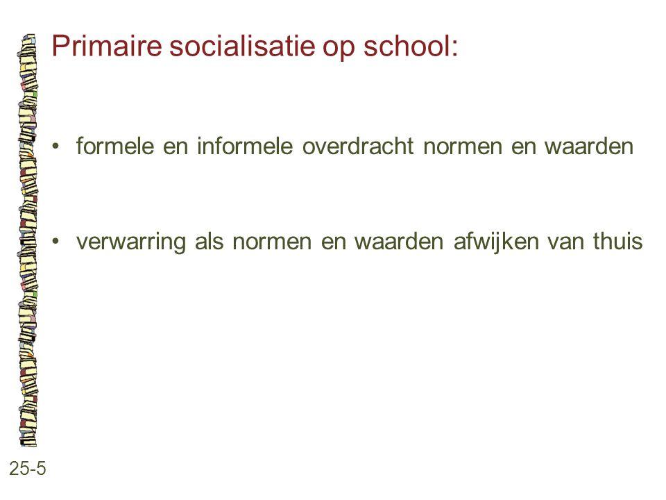 Primaire socialisatie op school: