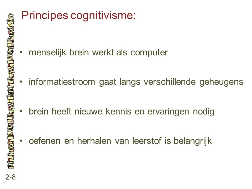 Principes cognitivisme: