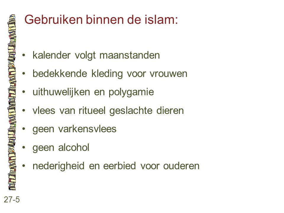 Gebruiken binnen de islam: