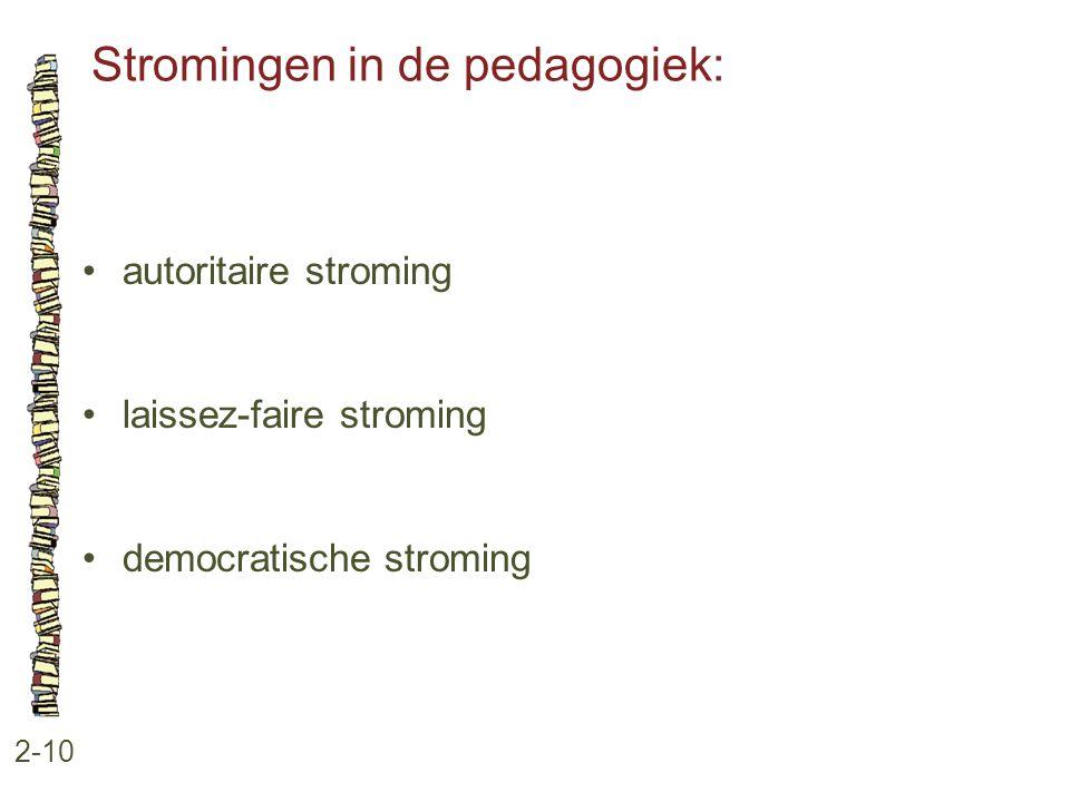 Stromingen in de pedagogiek: