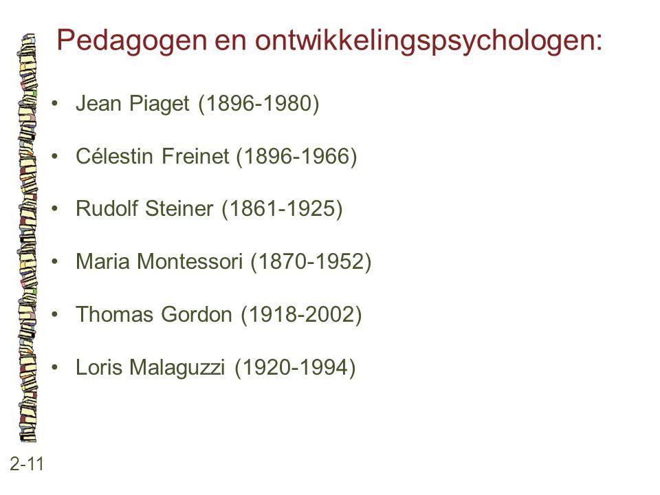 Pedagogen en ontwikkelingspsychologen: