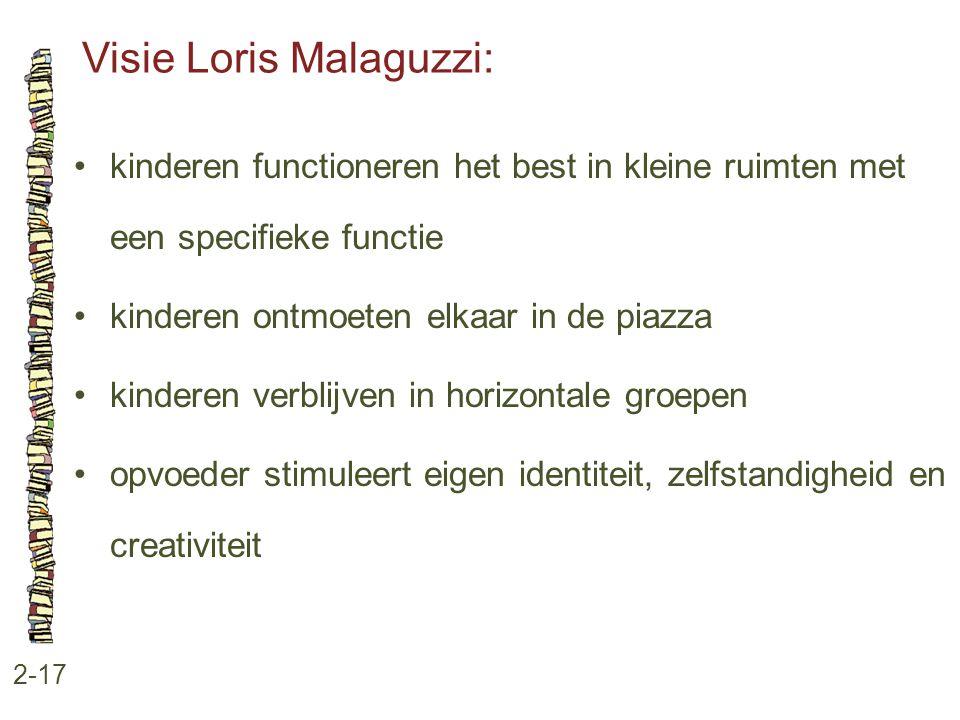 Visie Loris Malaguzzi: