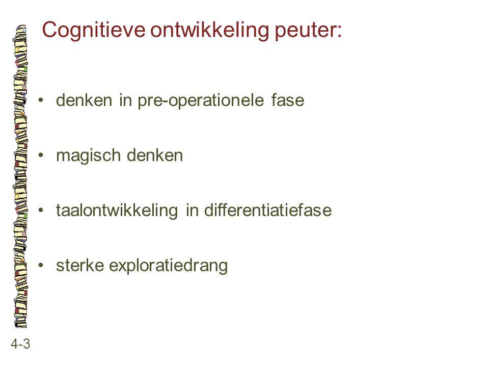 Cognitieve ontwikkeling peuter: