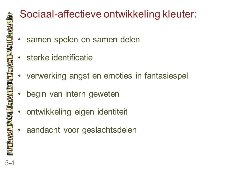 Sociaal-affectieve ontwikkeling kleuter: