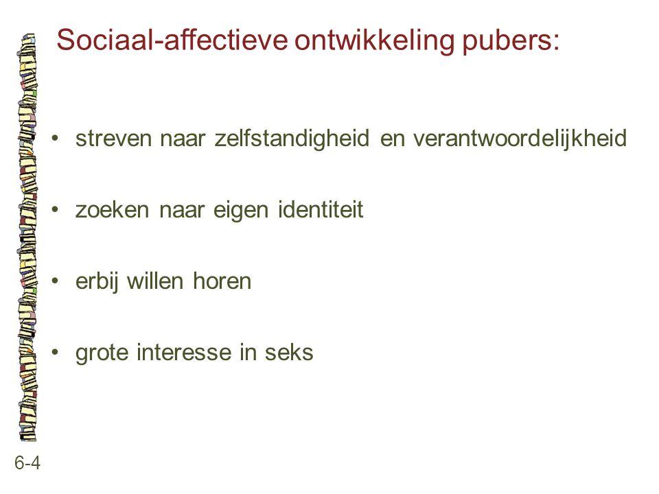 Sociaal-affectieve ontwikkeling pubers: