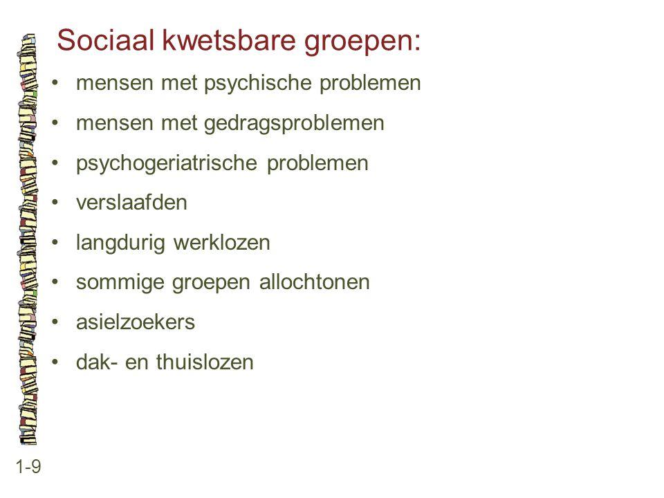 Sociaal kwetsbare groepen: