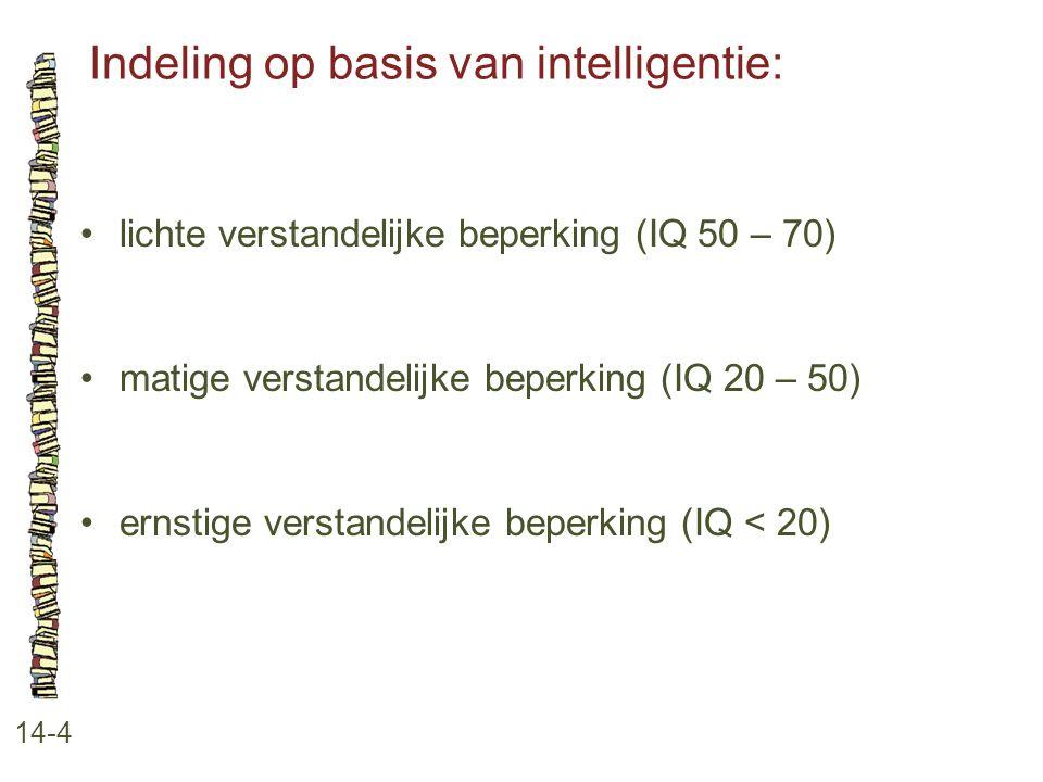 Indeling op basis van intelligentie: