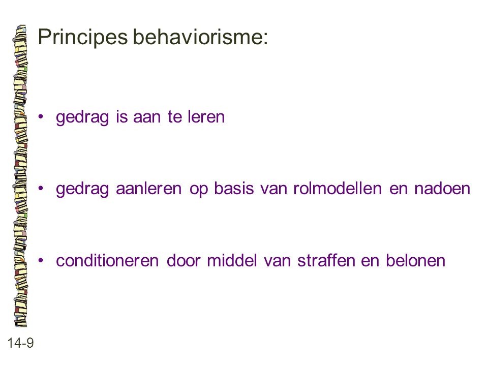 Principes behaviorisme: