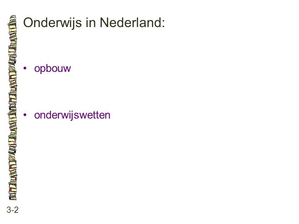 Onderwijs in Nederland: