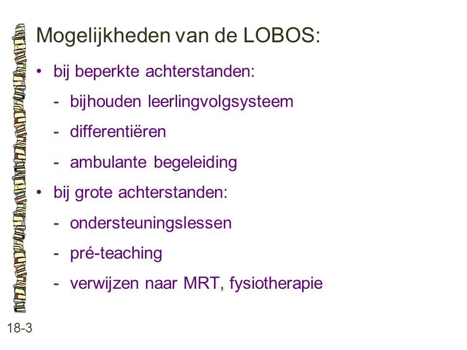 Mogelijkheden van de LOBOS: