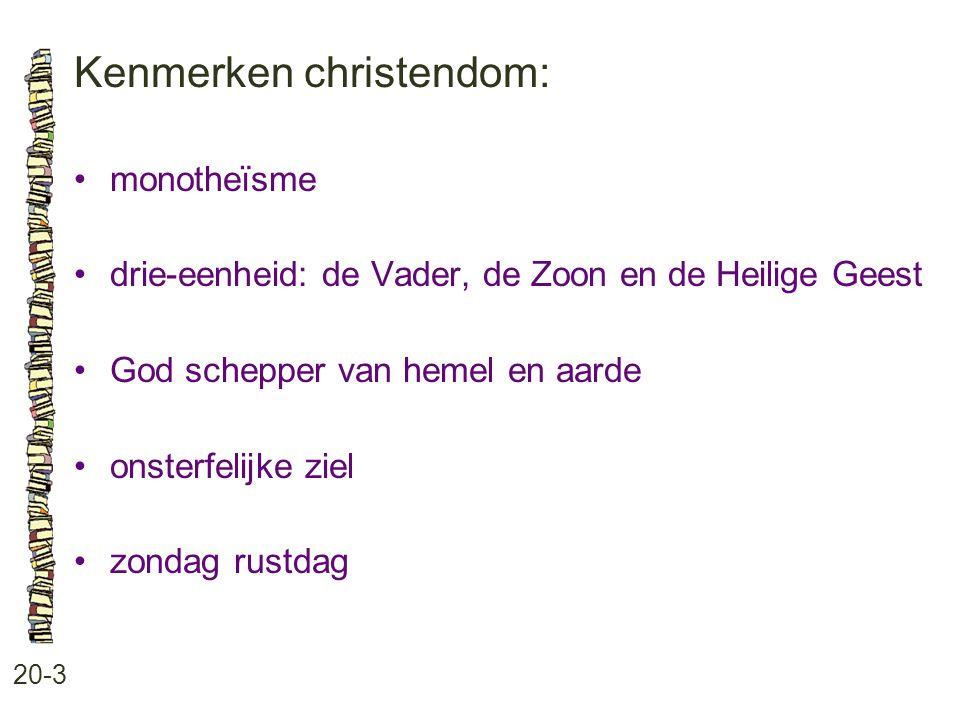 Kenmerken christendom:
