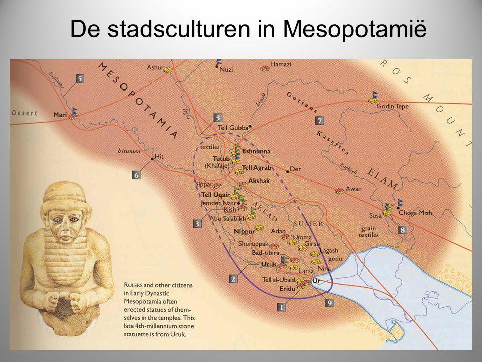 De stadsculturen in Mesopotamië