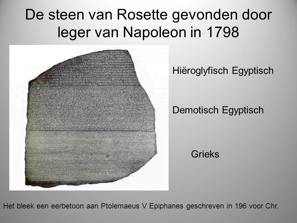 De steen van Rosette gevonden door leger van Napoleon in 1798