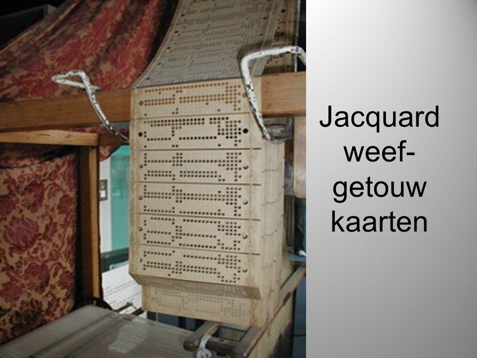 Jacquard weef-getouw kaarten