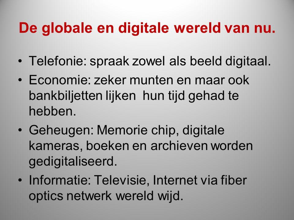 De globale en digitale wereld van nu.