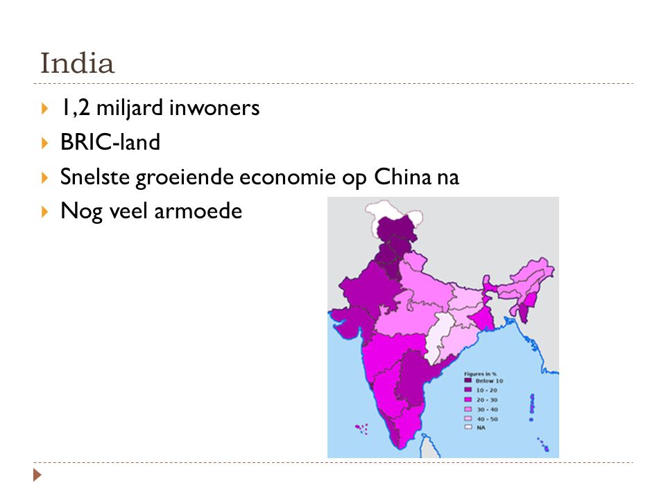 India 1,2 miljard inwoners BRIC-land