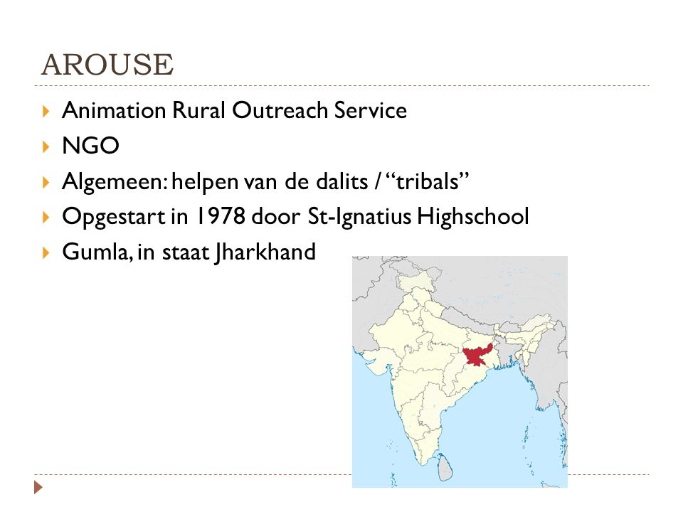 AROUSE Animation Rural Outreach Service NGO