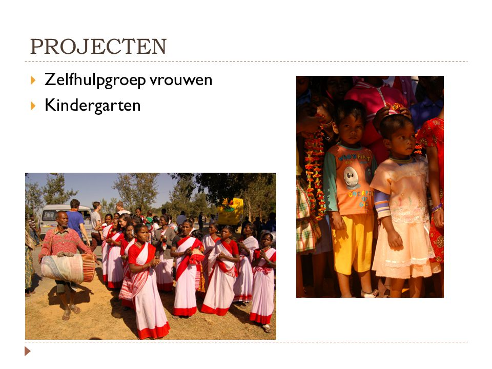 PROJECTEN Zelfhulpgroep vrouwen Kindergarten