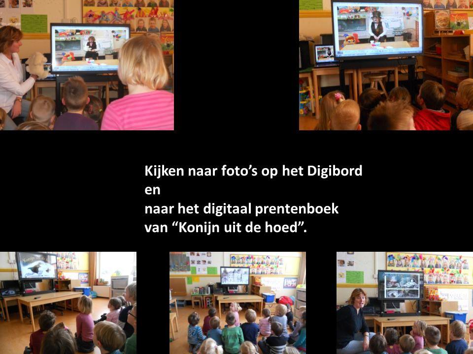 Kijken naar foto's op het Digibord