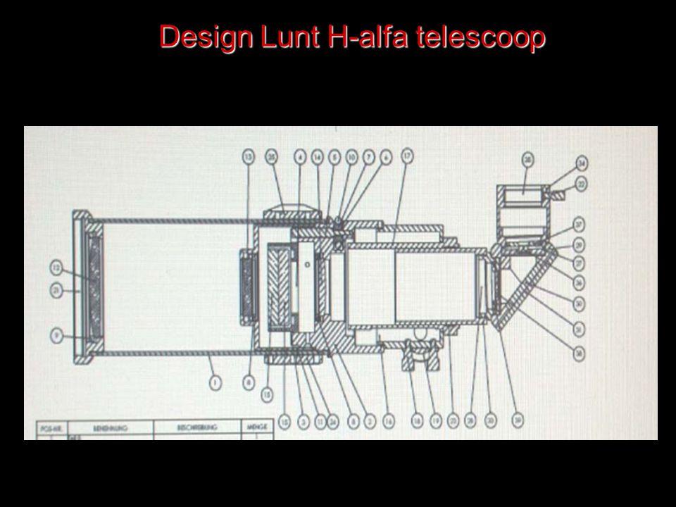 Design Lunt H-alfa telescoop
