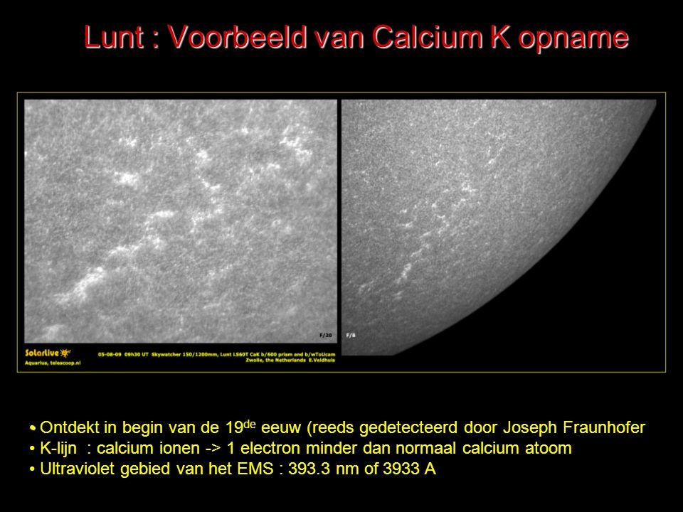 Lunt : Voorbeeld van Calcium K opname