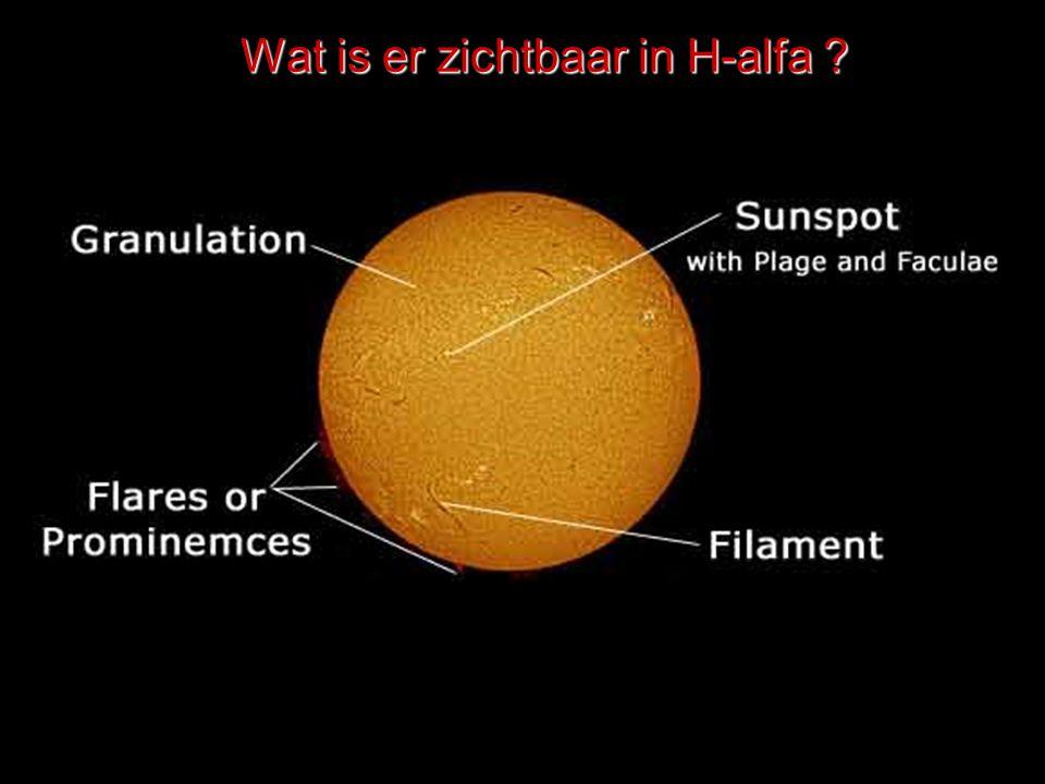 Wat is er zichtbaar in H-alfa