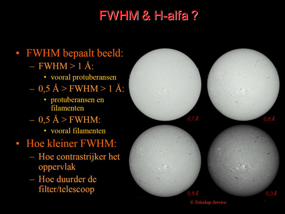 FWHM & H-alfa