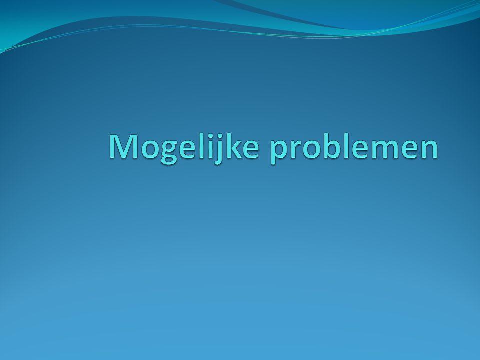 Mogelijke problemen