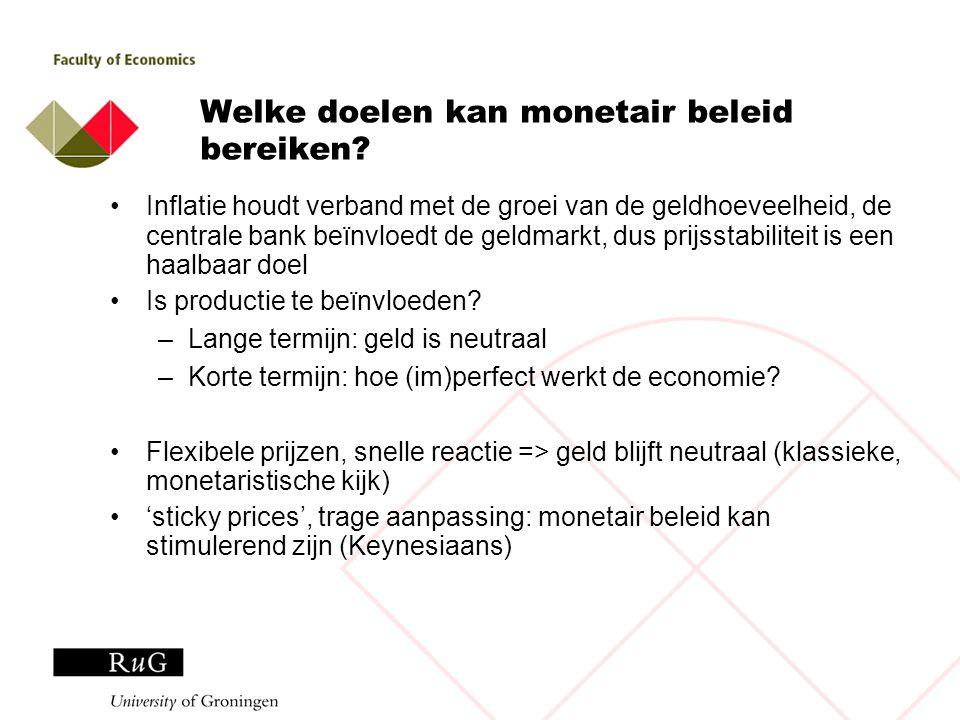 Welke doelen kan monetair beleid bereiken