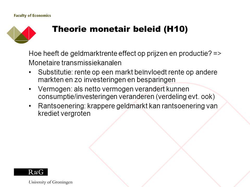 Theorie monetair beleid (H10)