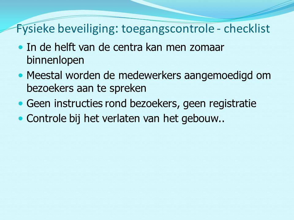 Fysieke beveiliging: toegangscontrole - checklist
